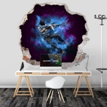 Wall decals counter strike cs go 3d
