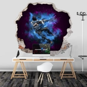 Vinyl walls counter strike cs go 3d
