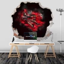 Wall stickers counter strike cs go 3d