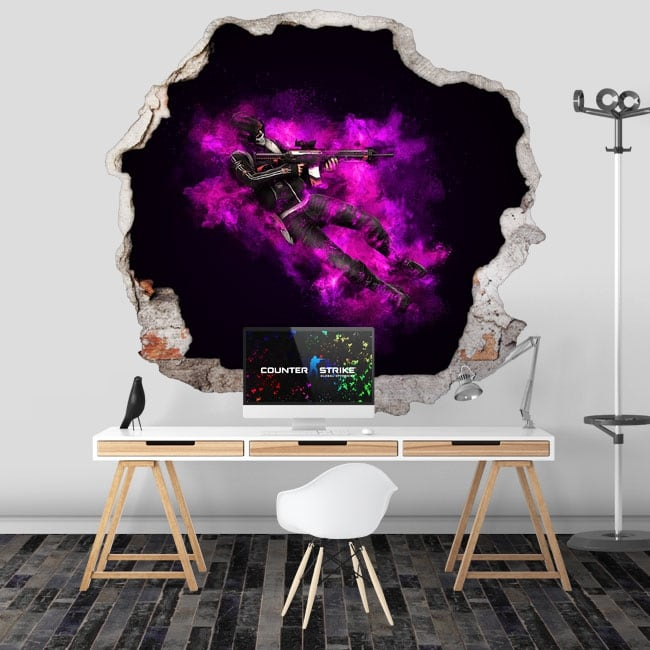 Adhesive vinyl counter strike cs go 3d