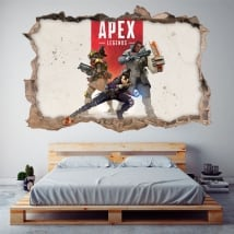 Decorative stickers apex legends 3d