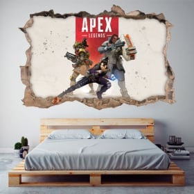 Decorative stickers apex legends 3d