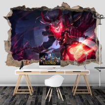 Vinyl walls league of legends 3d