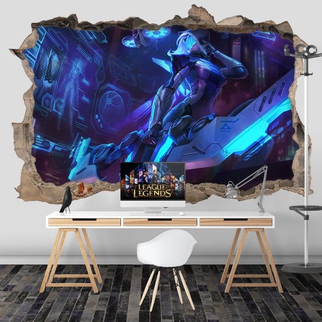 Decorative vinyl video game league of legends 3d