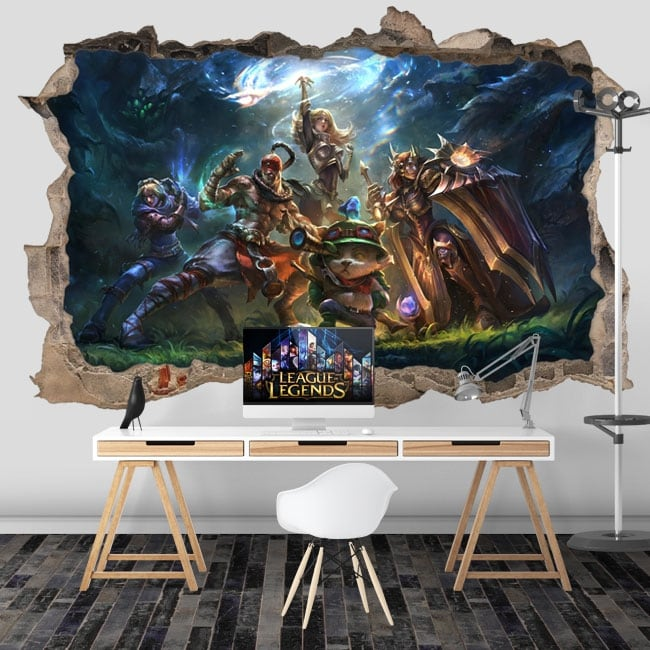 Stickers video game league of legends 3d