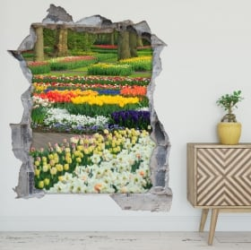 Decorative vinyl full moon in the forest 3d