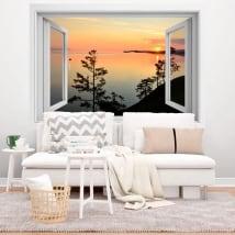 Vinyl sunrise russia siberia lake baikal 3d