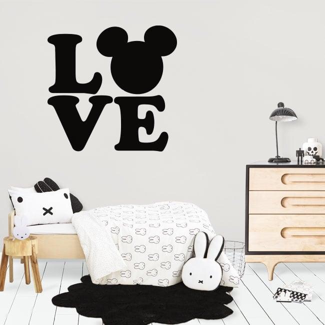Vinyl and stickers love disney