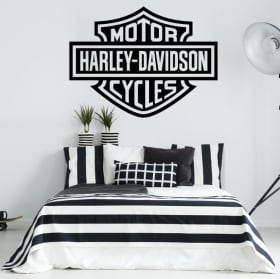 Vinyl and stickers logo motorcycles harley davidson