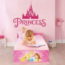 Vinyl and stickers princess castle disney