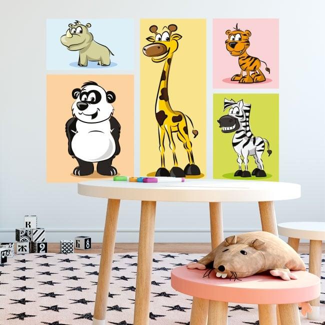 Vinyl stickers children's animals