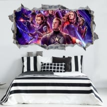 Decorative vinyl 3d the avengers