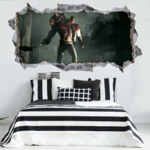 Decorative vinyl resident evil 3d