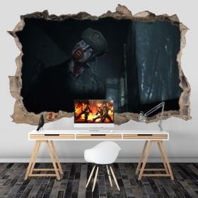 Vinyl walls resident evil 3d