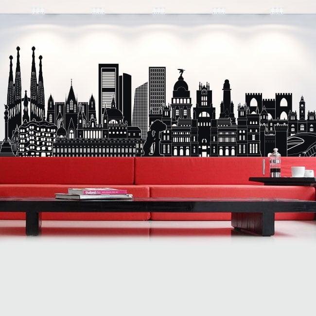 Vinyl and stickers spain skyline