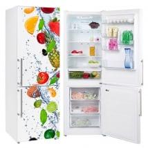 Vinyl refrigerators fruits in the water