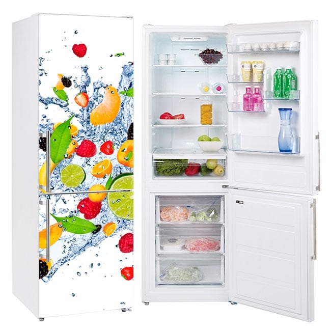 Vinyl refrigerators explosion of fruits