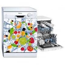 Vinyl dishwasher explosion of fruits