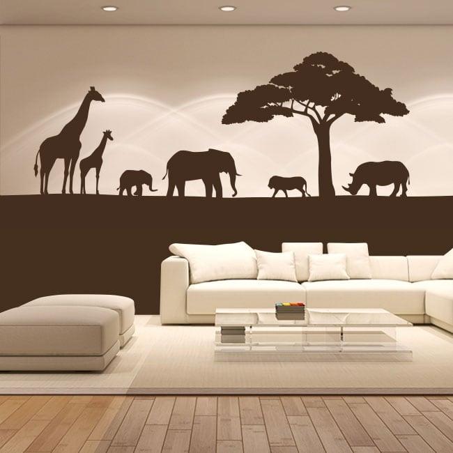 Decorative vinyl animals of africa