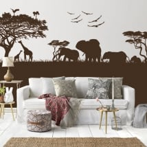 Decorative vinyl and stickers of animals in africa