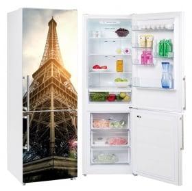 Vinyls for refrigerators eiffel tower