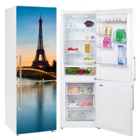 Decorative vinyl for refrigerators paris eiffel tower