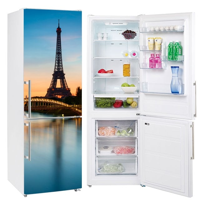 Decorative vinyl for refrigerators paris eiffel tower