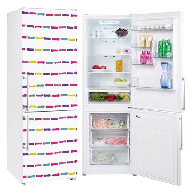 Vinyl refrigerators colored strokes