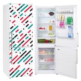 Vinyl refrigerators lines and circles of colors