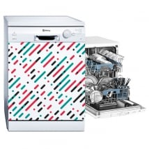 Vinyl dishwashers lines and colored circles