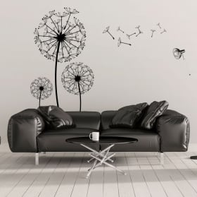 Decorative vinyl flowers dandelions
