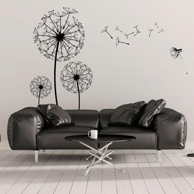 Decorative vinyl flowers dandelions
