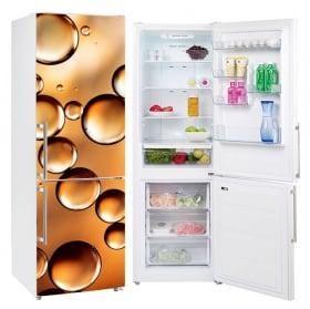 Vinyl refrigerators golden bubbles