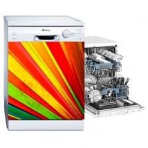Vinyl dishwasher fan of colors