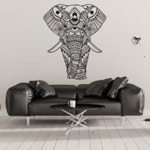 Vinyl and stickers tribal elephant
