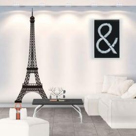 Vinyl and stickers eiffel tower paris france