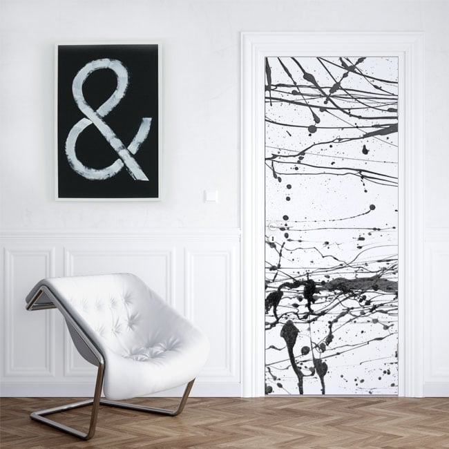 Vinyl for doors and cabinets splashes black paint