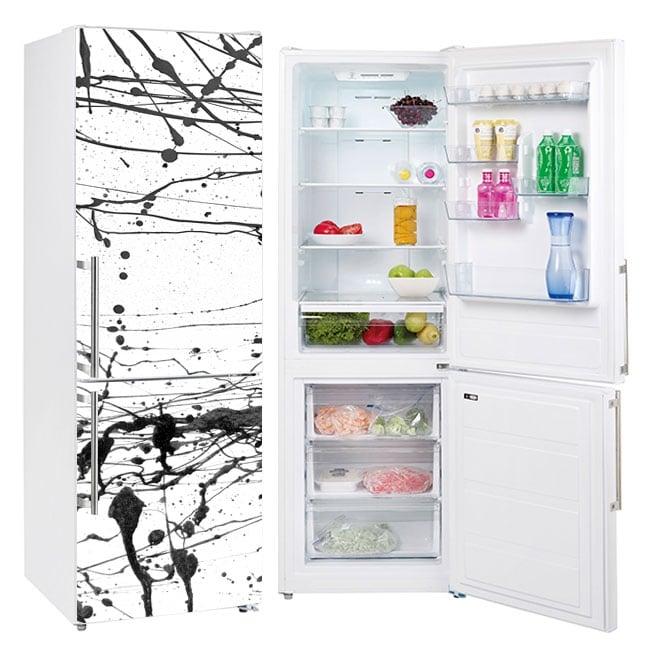 Vinyl refrigerators splashes black paint