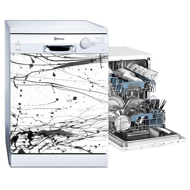 Vinyl dishwasher splashes black paint