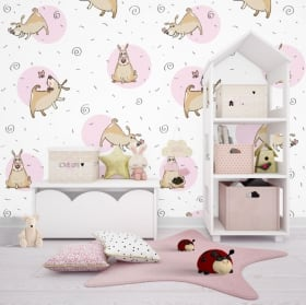 Vinyl wall murals dogs and butterflies