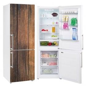 Vinyl refrigerators rustic wood finish