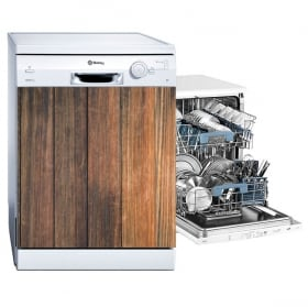 Vinyl dishwasher finish wood rustic
