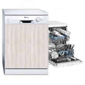 Vinyl and stickers dishwasher wood finish