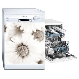 Vinyl and stickers dishwasher daisy flowers