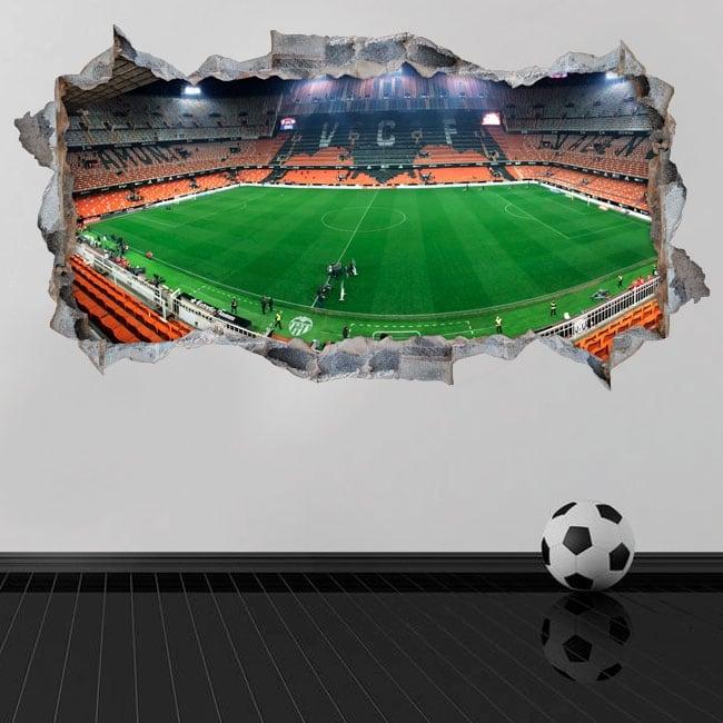 Wall stickers 3d panoramic mestalla valencia football club