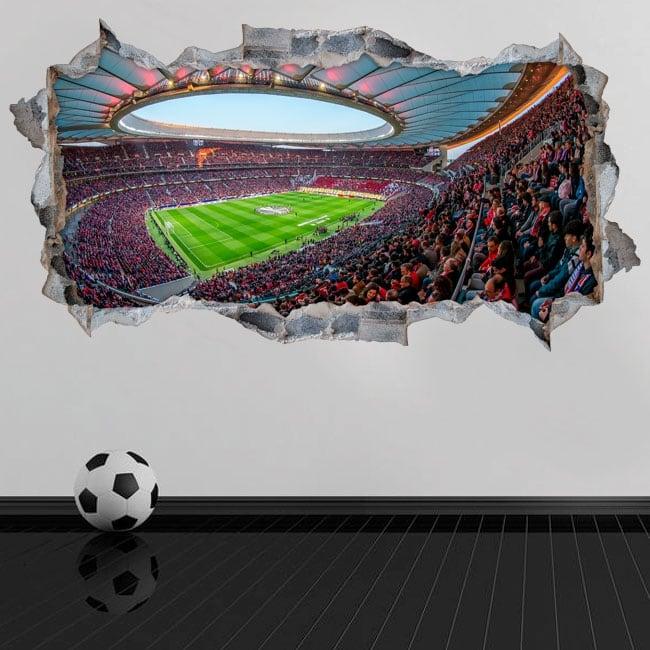 Vinyl 3d wanda metropolitano atlético de madrid stadium