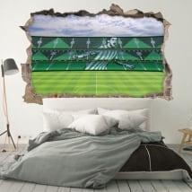 Vinyl 3d football stadium benito villamarín real betis balompié