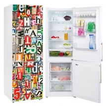 Vinyl refrigerators collage of letters