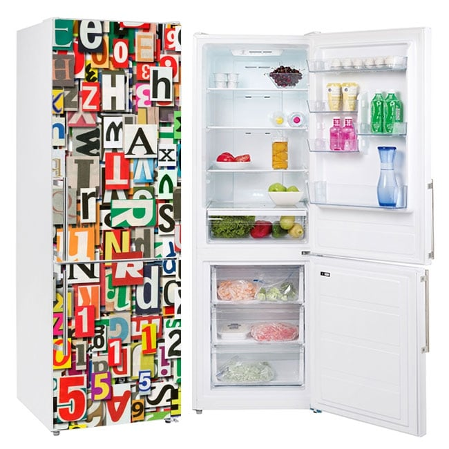 Vinyl refrigerators collage of letters