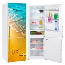 Decorative vinyl refrigerators sea stars